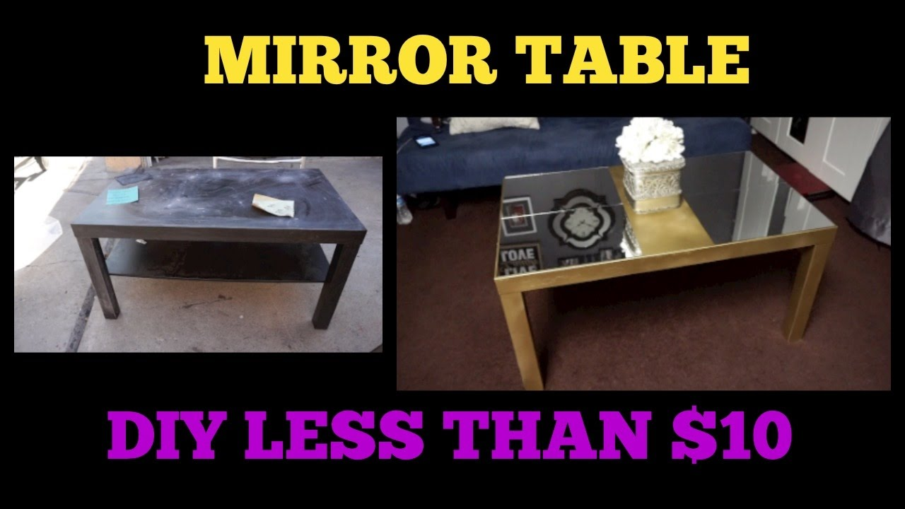 MIRROR COFFEE TABLE | GOLD | DIY | SPENT LESS THAN $10