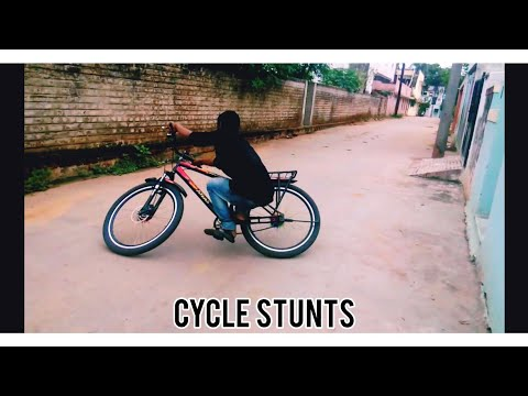 CYCLE STUNTS CYCLE WHELLING BICYCLE STUNTS IN LIVING TAMIL thumbnail