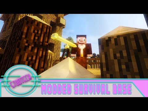 Minecraft: Modded Survival Base Build - Decocraft And Fort Design   (Stud Tech Ep.4)