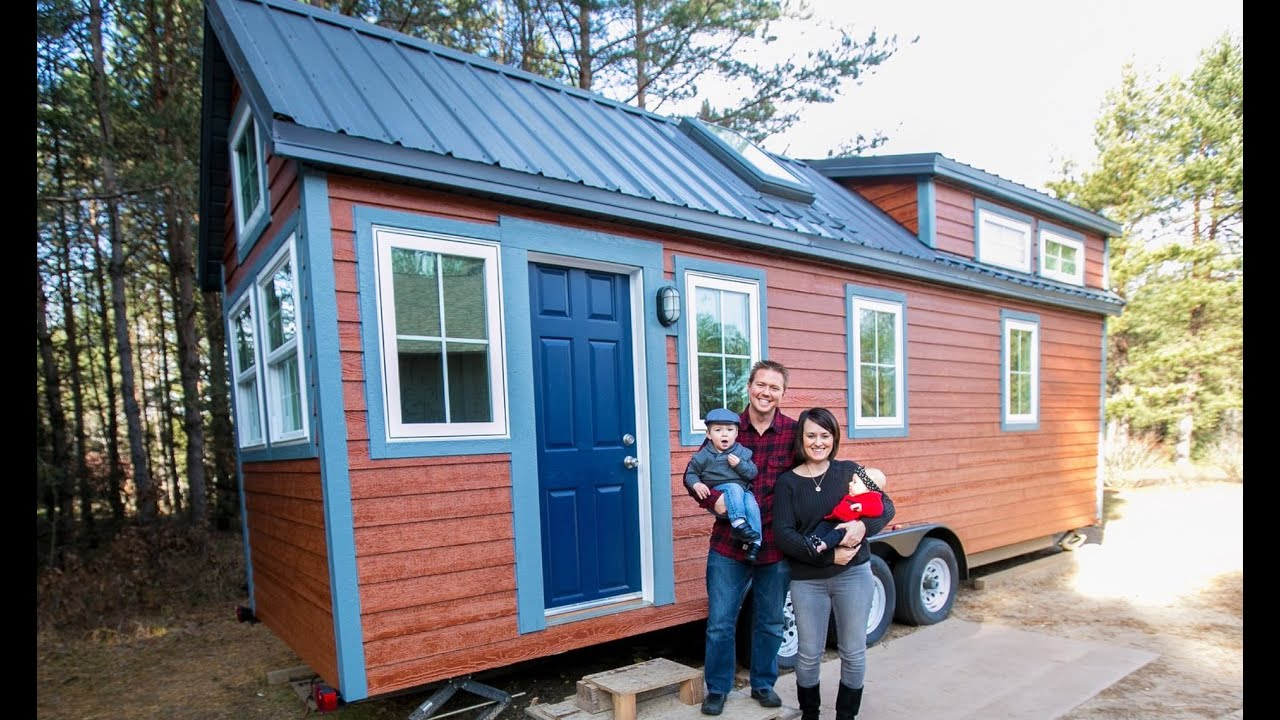 family of four tiny house with all the bells and whistles - youtube