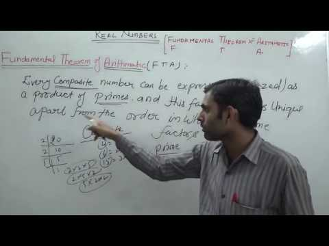 Fundamental Theorem of Arithmetic (Hindi) | NCERT/CBSE 10th