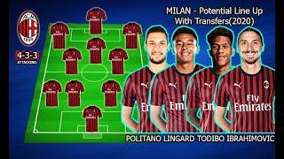 MILAN - Potential Line Up With Transfers(2020) ft.Politano, Todibo, Lingard