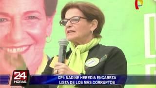 Estos son los políticos más corruptos del Perú, según CPI