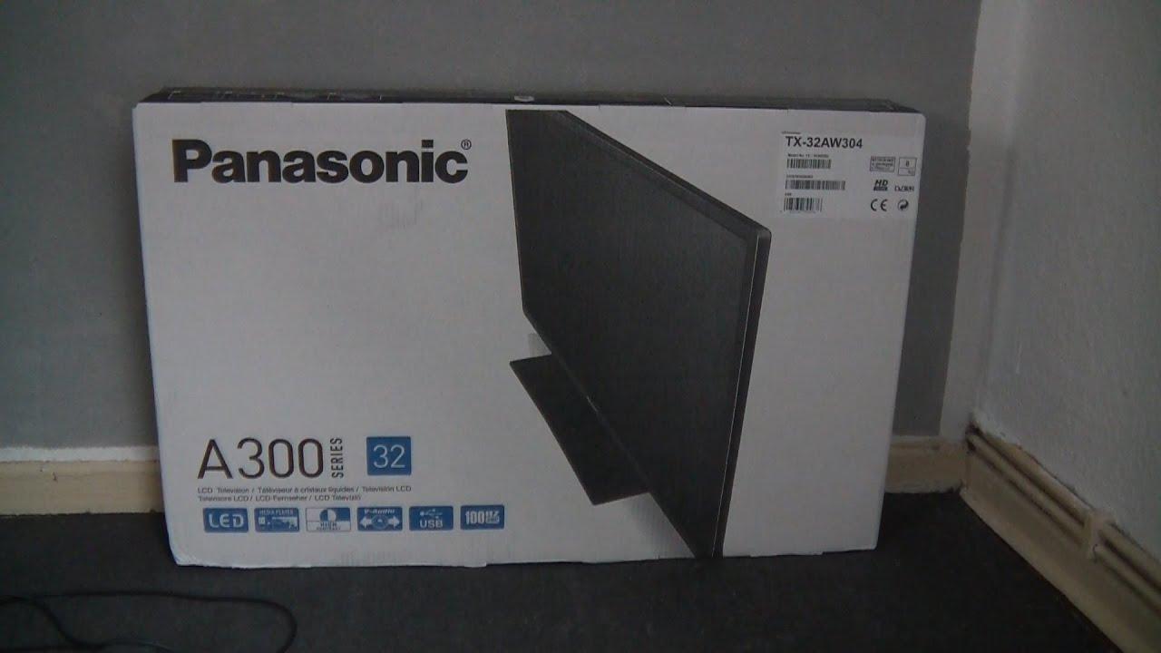 Panasonic TX 32AW304 - unboxing LED TV