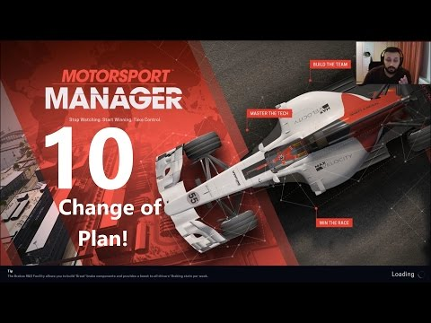 Change of Plan and a Crash! Motorsport Manager Difficult Challenge!