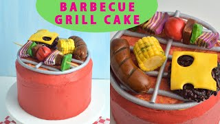 BBQ GRILL MINI CAKE FOR FATHER