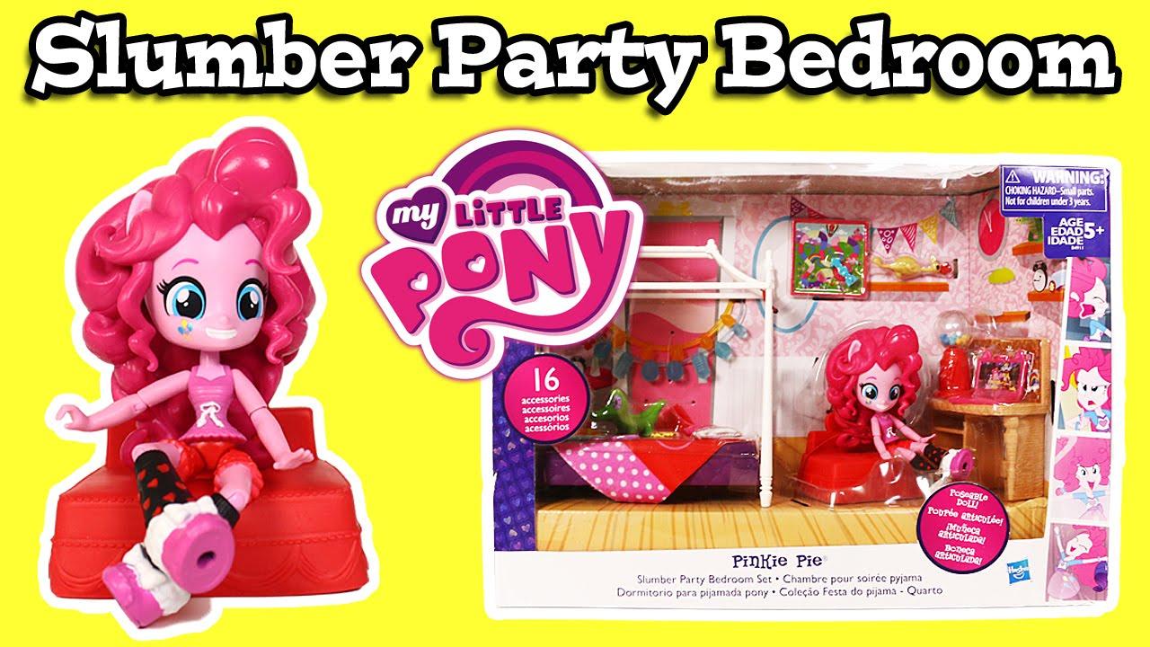 my little pony equestria girls mini pinkie pie slumber party bedroom set