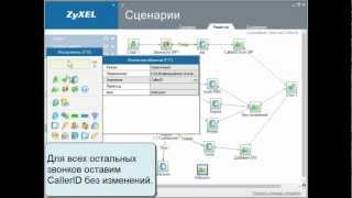 ZyXEL X8004 Урок №6 Служебный сценарий преобразования CallerID