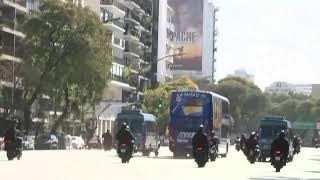 La llegada del micro de Boca al Monumental para el Superclásico ante River