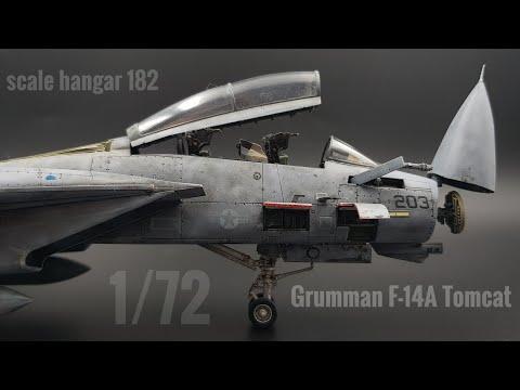 Grumman F-14A Tomcat 1/72  model aircraft timelapse build
