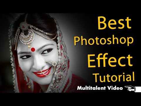 Best Photoshop effect tutorial in Hindi by Multitalent Video thumbnail