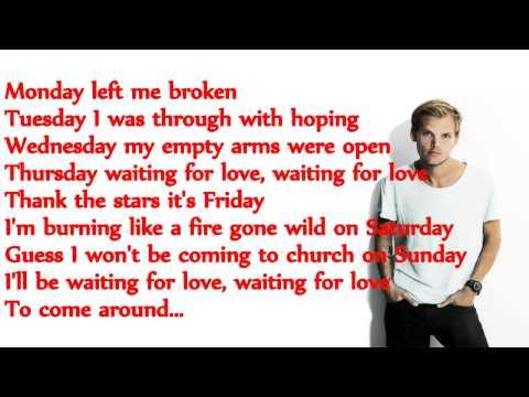 Waiting For Love Lyrics On Screen By Avicii HD