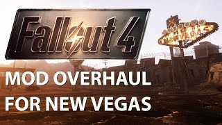Fallout New Vegas Fallout 4 Graphics Mod Overhaul vs. Vanilla Comparison 60fps FullHD