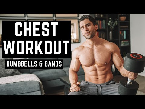 BEST CHEST WORKOUT With Limited Equipment (Dumbbells & Bands)