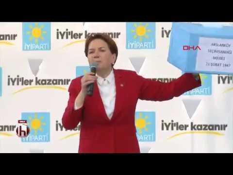 Meral Akşener Mersin mitinginde konuştu