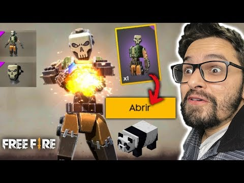 COMO COLETAR GRÁTIS A SKIN DO MINECRAFT REI CAVEIRA do FREE FIRE