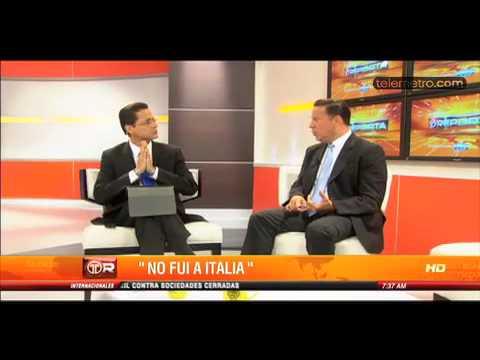 Entrevista al Vicepresidente Juan Carlos Varela sobre caso Lavitola