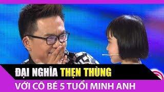 Đại Nghĩa thẹn thùng với cô bé 5 tuổi Minh Anh thích cười mỉm   Bản Lĩnh Nhóc Tỳ Tập 23