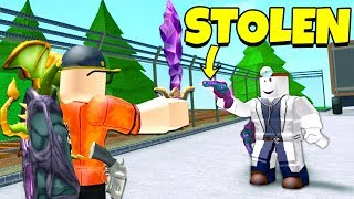 Playing a HACKER for a STOLEN GODLY (Roblox Murder Mystery 2)