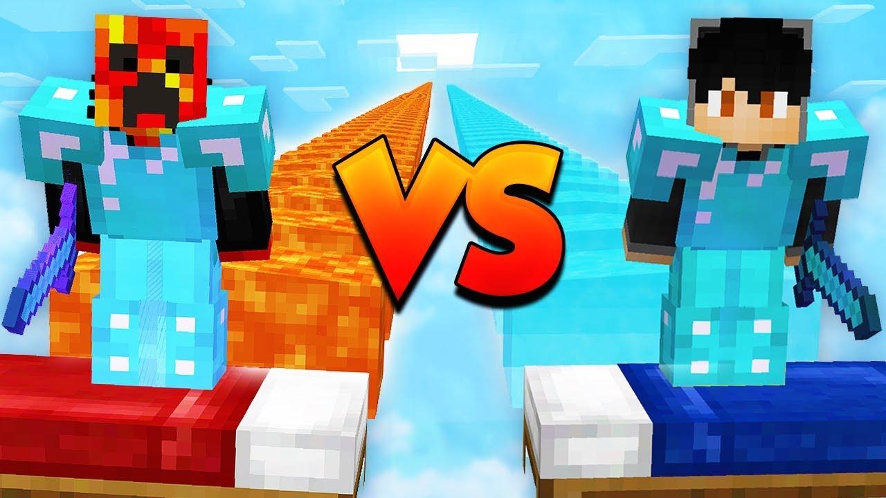1v1 MINECRAFT BED WARS CHALLENGE! (PrestonPlayz vs ShotGunRaids)