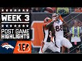 Broncos vs. Bengals | NFL Week 3 Game Highlights