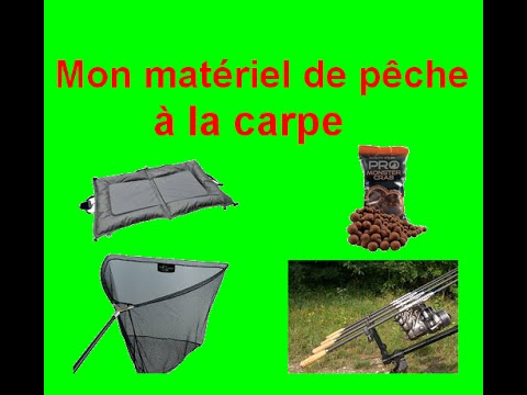 pr sentation de mon mat riel de p che la carpe youtube. Black Bedroom Furniture Sets. Home Design Ideas