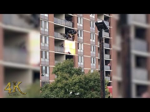 Brampton: Incredible SWAT takedown with rappelling on highrise 10-10-2018