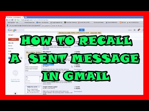 How to Recall Sent Email Messages in Gmail - Undo Wrong Delivery E-mails