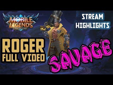 [Mobile Legends] Roger Savage (streams highlights)
