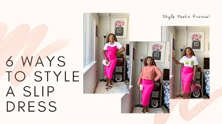 SLIP DRESS: 6 WAYS TO STYLE A SLIP DRESS| OUTFITS IDEAS| THEIVORIANGIRL