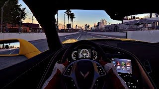 Project Cars 2 - Chevrolet Corvette ZO6 2017 Driver View Gameplay @ Long Beach USA [4K HD 60FPS]