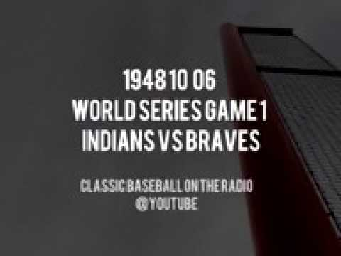 1948 10 06 World Series Game 1 Indians vs Braves Vintage Baseball OTR