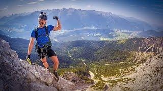 NICHTS FÜR HÖHENANGST! Adler D Klettersteig Alpen Tirol