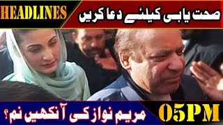 Maryam Nawaz Worried About Father's Health - | 05:00 PM Headlines | 17 Feb 2019 | Lahore Rang