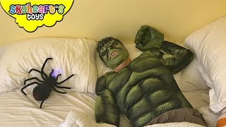 Toddler pranks HULK with giant spider! - Prank war with Skyheart