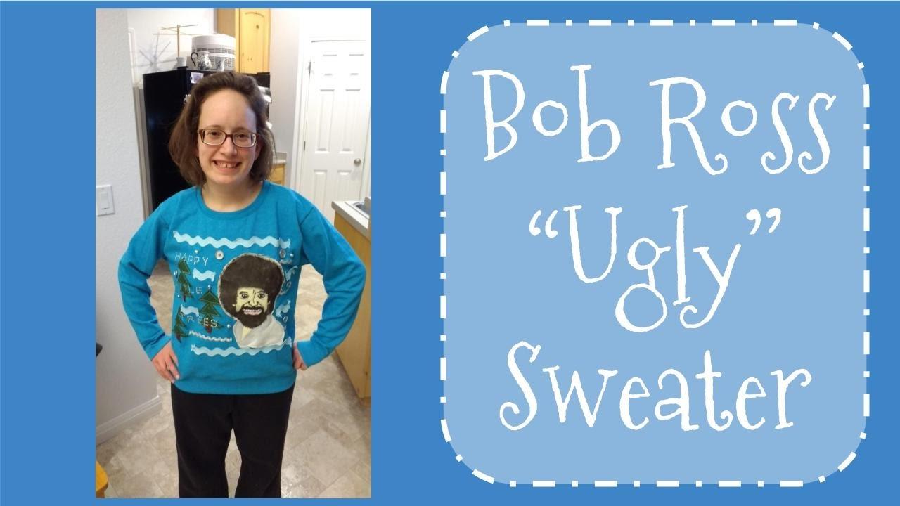 Bob Ross Ugly Christmas Sweater Timelapse Youtube