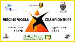 Fencing World Championships Egypt Cairo 2021 - Junior Team Sabre Piste Yellow