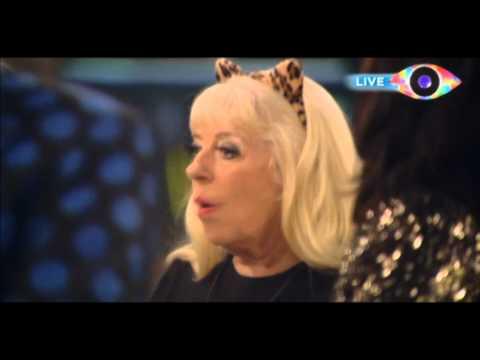 Celebrity Big Brother 2012 Julie Goodyear throws water over Cheryl Fergison
