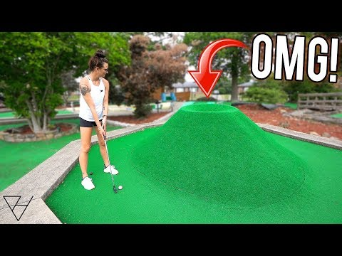 The BIGGEST Volcano Mini Golf Hole EVER?!