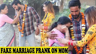 Fake Marriage Prank On Yash Choudhary Mom | Rits Dhawan