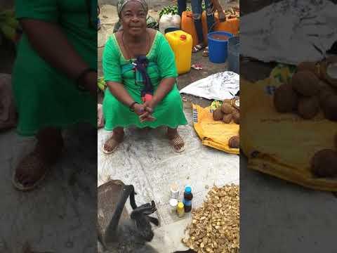 Market in Mongomo Equatorial Guinea