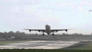 HiFly | A340-313 | CS-TQM | Head On Takeoff At Birmingham Airport | HD