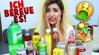 Wollte seltsame Getränke Reviewen aber eigentlich sind das 10 Minuten try not to kotz challenge
