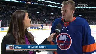 Robin Lehner Reflects on Shutout vs. Sharks | New York Islanders | MSG Networks