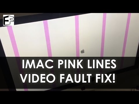 How to Fix iMac Pink Vertical Lines Graphics Fault - #5minFriday - #12