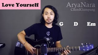 Chord Gampang (Love Yourself - Justin Bieber) by Arya Nara (Tutorial Gitar) Untuk Pemula