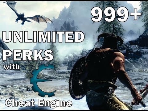 SKYRIM   UNLIMITED PERKS   WITH CHEAT ENGINE