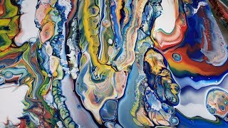 5 STACKED MEASURING CUPS/ACRYLIC POUR TECHNIQUE WITH INSANELY BEAUTIFUL  RESULTS #5CUPPOUR#FLUIDART