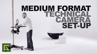 Setting up a Medium Format Digital Technical Camera in Studio