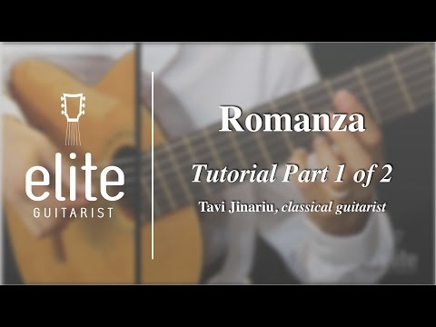 Learn to Play Romanza (Spanish Romance) - EliteGuitarist.com Classical Guitar Tutorial  Part 1/2